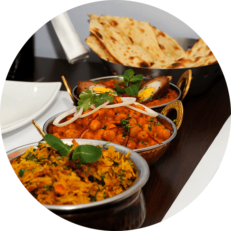 Curries with Biriyani