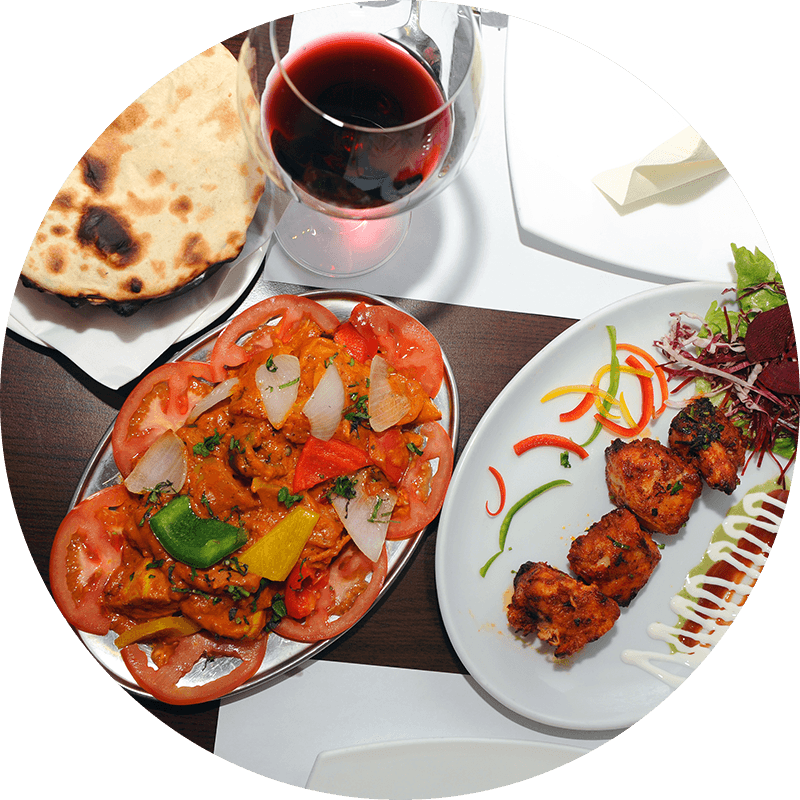 Chicken Tikka and Tawa Chicken